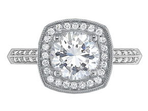 Engagement Rings from the Petite FlushFit - By Precision Set - Style #: 7336