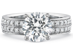 Wedding Rings from the FlushFit - By Precision Set - Style #: 7842