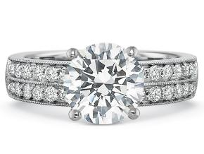 Wedding Rings from the FlushFit - By Precision Set - Style #: 7846