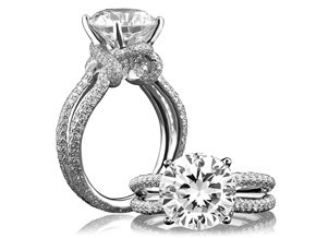 Engagement Rings from the A.JAFFE Seasons of Love - By A.JAFFE - Style #: ME1631-213