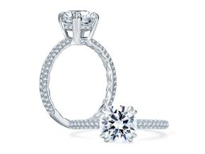 Engagement Rings from the A.JAFFE Quilted™ - By A.JAFFE - Style #: ME1841Q-144