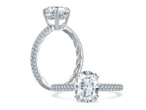 Engagement Rings from the A.JAFFE Quilted™ - By A.JAFFE - Style #: ME1842Q-144