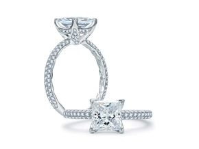 Engagement Rings from the A.JAFFE Quilted™ - By A.JAFFE - Style #: ME1855Q-150