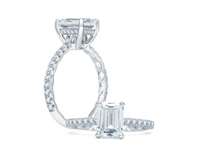 Engagement Rings from the A.JAFFE Quilted™ - By A.JAFFE - Style #: ME1859Q-144