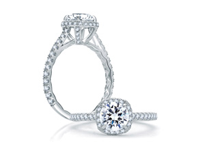 Engagement Rings from the A.JAFFE Quilted™ - By A.JAFFE - Style #: ME1860Q-102