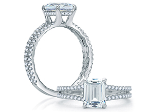 Engagement Rings from the Quilted™ - By A.JAFFE - Style #: ME1863Q-138