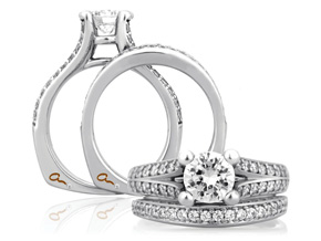 Engagement Rings from the A.JAFFE Classic - By A.JAFFE - Style #: MES017-350