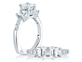 Engagement Rings from the A.JAFFE Classic - By A.JAFFE - Style #: MES126-70