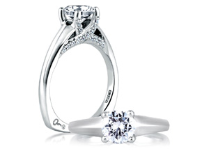 Engagement Rings from the Signature Shank™ - By A.JAFFE - Style #: MES144-166