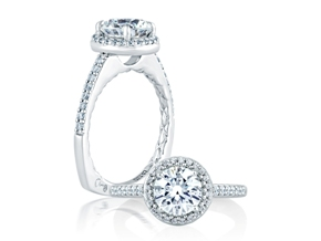 Engagement Rings - By A.JAFFE - Style #: MES168Q-29