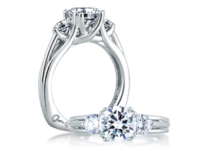 Engagement Rings from the A.JAFFE Classic - By A.JAFFE - Style #: MES225-300