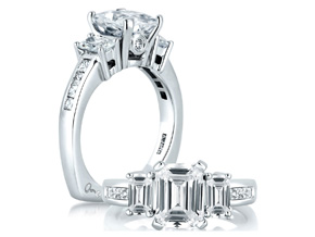 Engagement Rings from the A.JAFFE Classic - By A.JAFFE - Style #: MES242-93