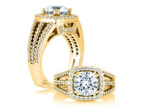 Engagement Rings from the Signature Shank™ - By A.JAFFE - Style #: MES256-64