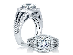 Engagement Rings from the Signature Shank™ - By A.JAFFE - Style #: MES256-60A