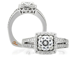 Engagement Rings from the A.JAFFE Art Deco - By A.JAFFE - Style #: MES264-145