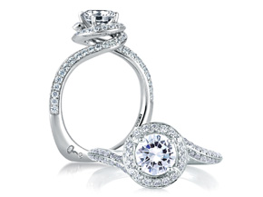 Engagement Rings from the Signature Shank™ - By A.JAFFE - Style #: MES322-125