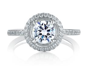 Engagement Rings from the Signature Shank™ - By A.JAFFE - Style #: MES325-96