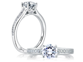 Engagement Rings from the Signature Shank™ - By A.JAFFE - Style #: MES336-98