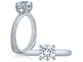 Engagement Rings from the A.JAFFE Classic - By A.JAFFE - Style #: MES396-100