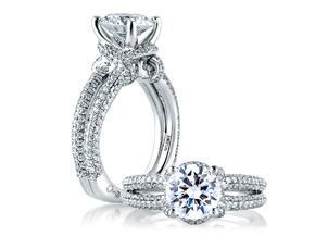 Engagement Rings from the A.JAFFE Seasons of Love - By A.JAFFE - Style #: MES561-252