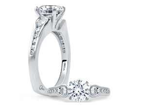 Engagement Rings from the Signature Shank™ - By A.JAFFE - Style #: MES668-50