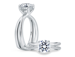 Engagement Rings from the A.JAFFE Seasons of Love - By A.JAFFE - Style #: MES675-105