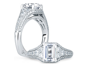 Engagement Rings from the Signature Shank™ - By A.JAFFE - Style #: MES693-272