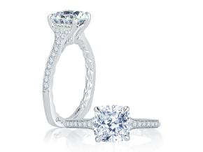 Engagement Rings from the Signature/Quilted™ - By A.JAFFE - Style #: MES739Q-168