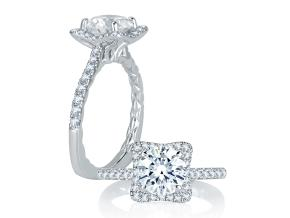 Engagement Rings from the Signature/Quilted™ - By A.JAFFE - Style #: MES750Q-138