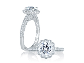 Engagement Rings from the A.JAFFE Seasons of Love - By A.JAFFE - Style #: MES757Q-175