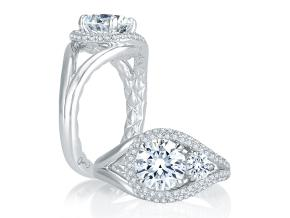 Engagement Rings from the A.JAFFE Seasons of Love - By A.JAFFE - Style #: MES758Q-206