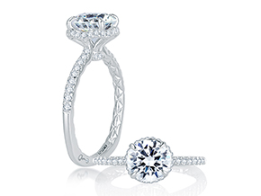 Engagement Rings from the A.JAFFE Classic - By A.JAFFE - Style #: MES766Q-175