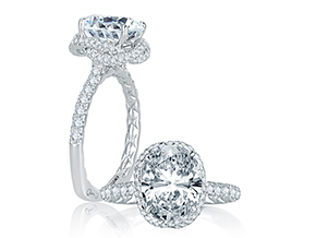 Engagement Rings from the Signature/Quilted™ - By A.JAFFE - Style #: MES768Q-345
