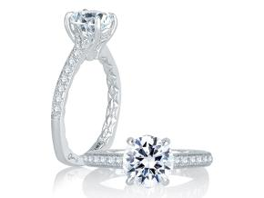 Engagement Rings from the Signature/Quilted™ - By A.JAFFE - Style #: MES770Q-172