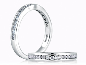 Wedding Rings from the A.JAFFE Classic - By A.JAFFE - Style #: MR1258-43