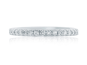 Wedding Rings from the A.JAFFE Seasons of Love - By A.JAFFE - Style #: MR1875-42