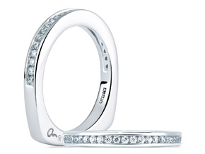 Wedding Rings from the A.JAFFE Classic - By A.JAFFE - Style #: MRS227-40