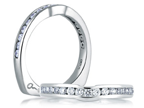 Wedding Rings from the A.JAFFE Classic - By A.JAFFE - Style #: MRS228-43