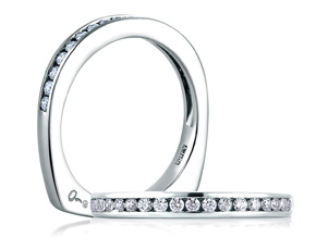 Wedding Rings from the A.JAFFE Classic - By A.JAFFE - Style #: MRS233-27