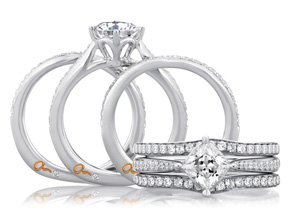 Wedding Rings from the A.JAFFE Seasons of Love - By A.JAFFE - Style #: MRS430-24