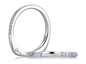 Wedding Rings from the A.JAFFE Seasons of Love - By A.JAFFE - Style #: MRS495-15
