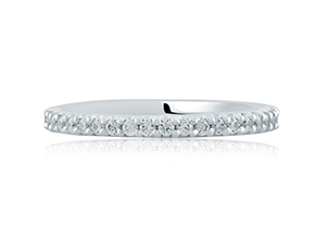 Wedding Rings from the A.JAFFE Classic - By A.JAFFE - Style #: MRS569-30