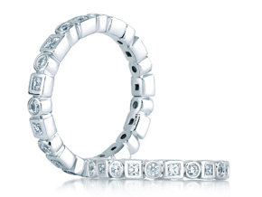 Wedding Rings from the A.JAFFE Metropolitan - By A.JAFFE - Style #: WR0841-53