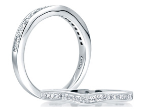 Wedding Rings from the A.JAFFE Seasons of Love - By A.JAFFE - Style #: WR0968-25