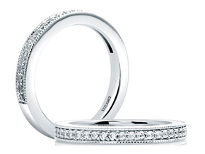 Wedding Rings from the A.JAFFE Seasons of Love - By A.JAFFE - Style #: WR0972-21