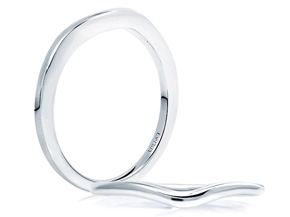 Wedding Rings from the A.JAFFE Seasons of Love - By A.JAFFE - Style #: WR0983-PL