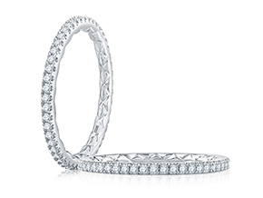 Wedding Rings from the Quilted™ - By A.JAFFE - Style #: WR1024Q-34