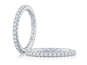 Wedding Rings - By A.JAFFE - Style #: WR1025Q-77