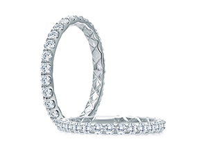 Wedding Rings from the A.JAFFE Classic - By A.JAFFE - Style #: WR1025Q-23